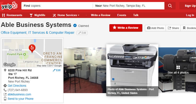 New Port Richey Copier Company Reviews